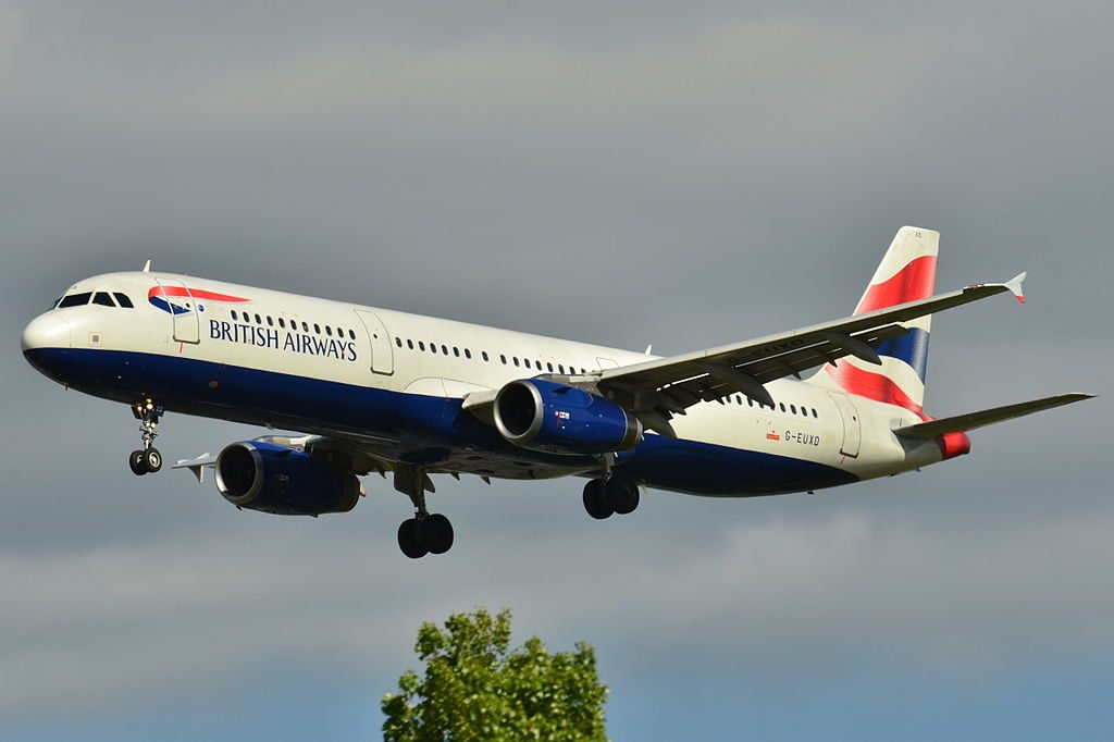 Airbus A321 200 British Airways G EUXD at Toulouse Blagnac International Airport