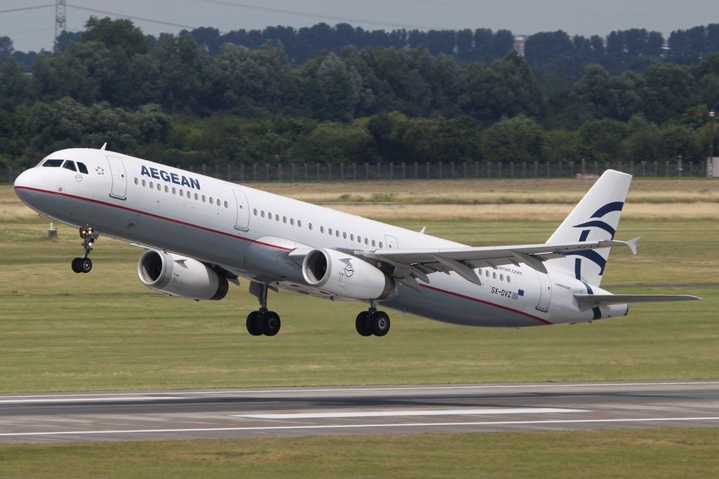 Airbus A321 231 Aegean Airlines SX DVZ at Duesseldorf International