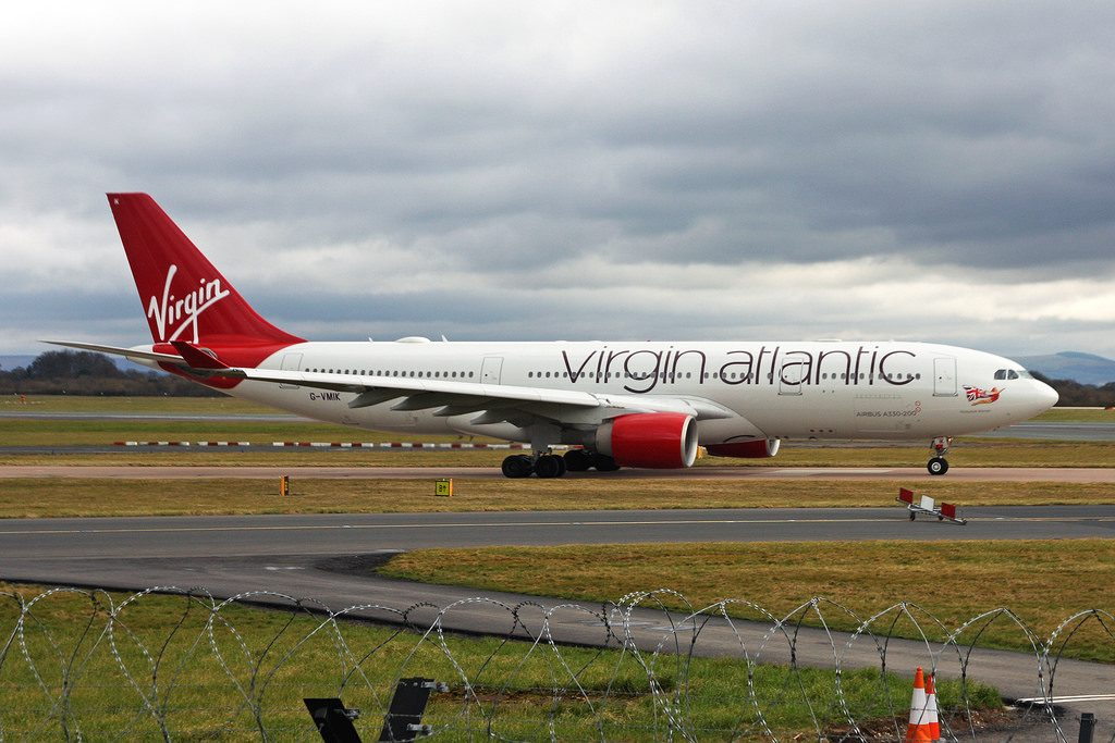 Airbus A330 223 Virgin Atlantic G VMIK Honky Tonk Woman at Manchester Airport