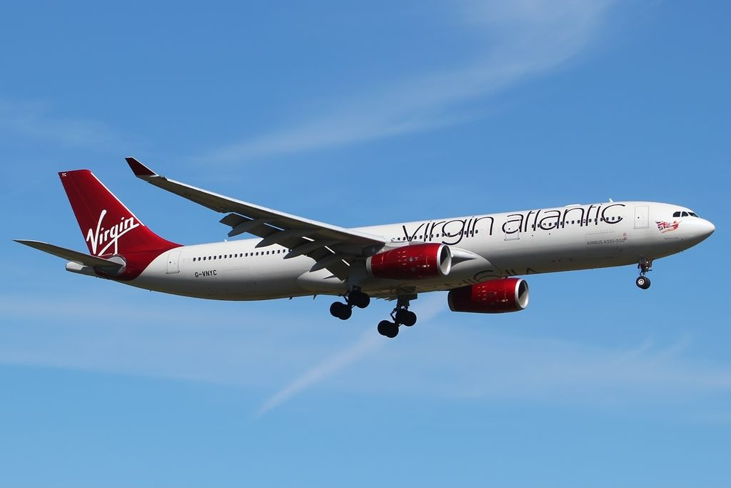 Airbus A330 343X Virgin Atlantic G VNYC Uptown Girl at London Heathrow Airport