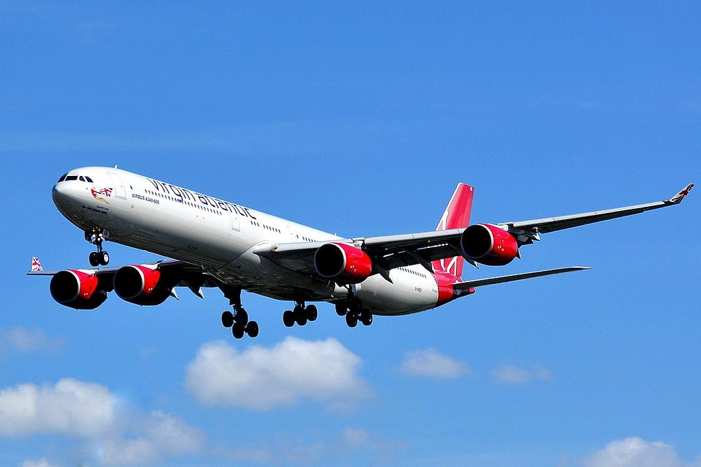 Airbus A340 642 Virgin Atlantic Airways G VRED Scarlet Lady at London Heathrow Airport