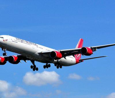 Airbus A340 642 Virgin Atlantic Airways G VRED Scarlet Lady at London Heathrow Airport