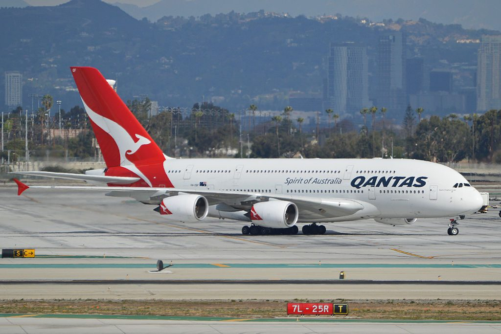 Airbus A380 842 VH OQF Charles Kingsford Smith QANTAS at Los Angeles International Airport
