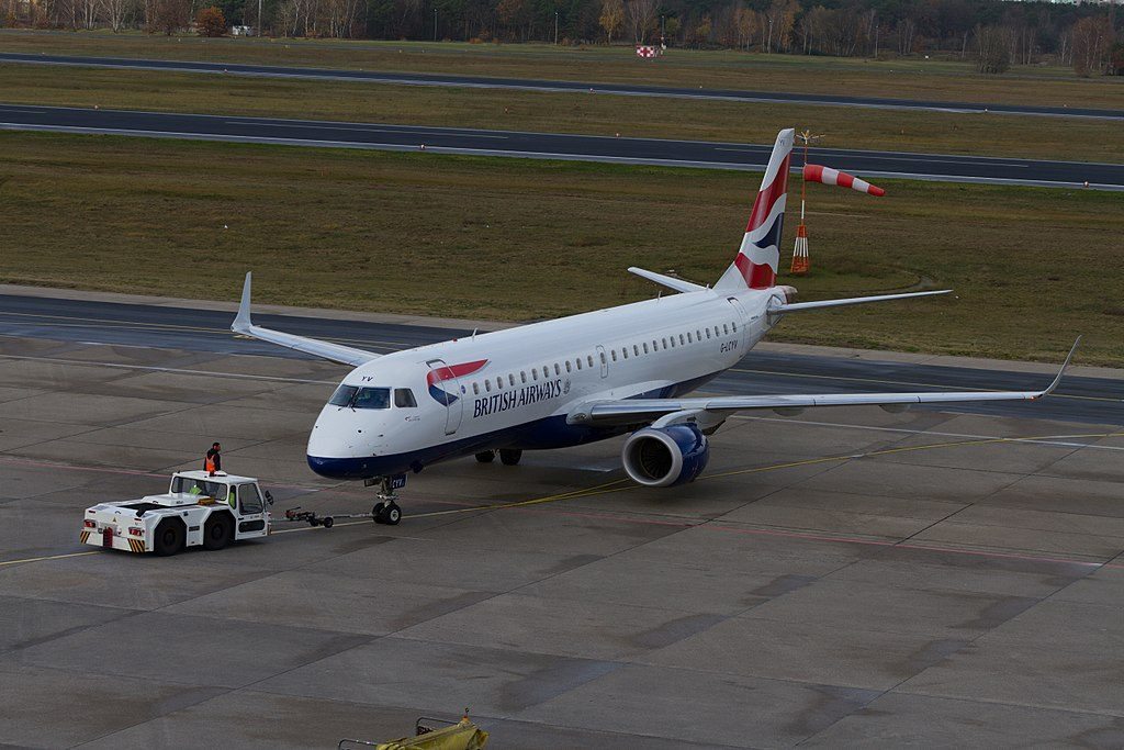 BA CityFlyer Embraer E190 G LCYV at Berlin Tegel Airport