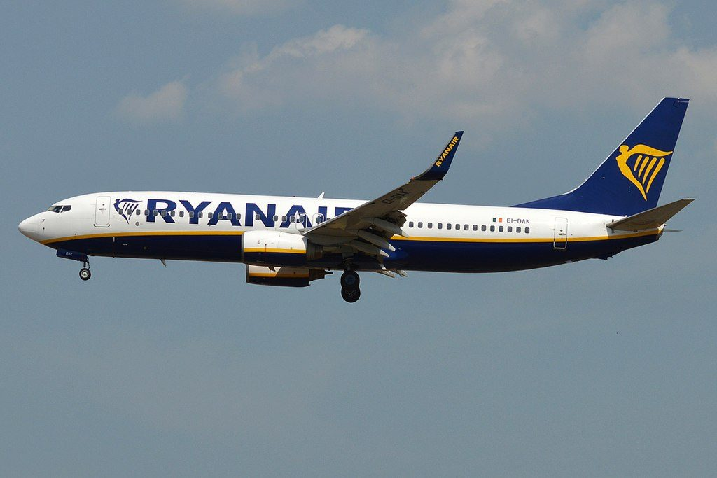 Boeing 737 8ASWL EI DAK Ryanair at Frankfurt Airport