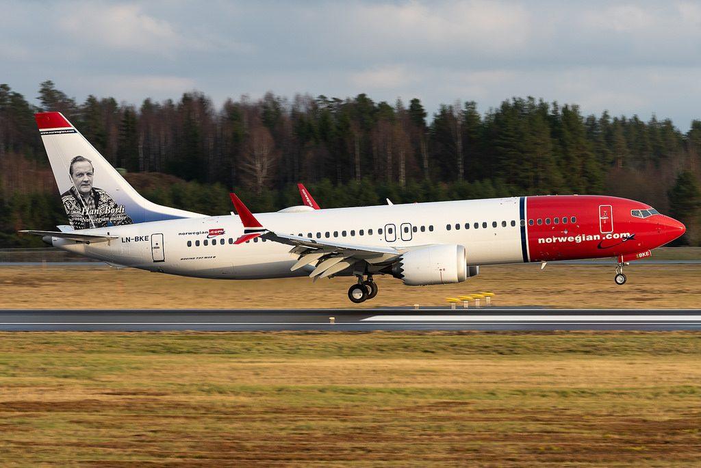 Boeing 737 MAX 8 Norwegian LN BKE Hans Børli at Oslo Airport