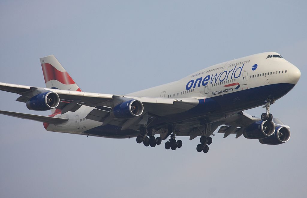 Boeing 747 436 G CIVC British Airways aircraft in Oneworld livery at London Heathrow Airport
