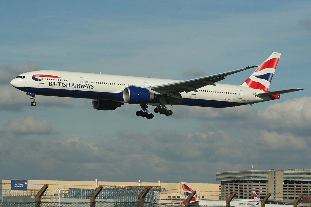 Boeing 777 336ER G STBD British Airways at London Heathrow Airport