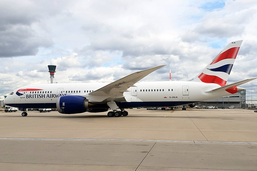 Boeing 787 8 Dreamliner G ZBJK British Airways taxiing at London Heathrow Airport