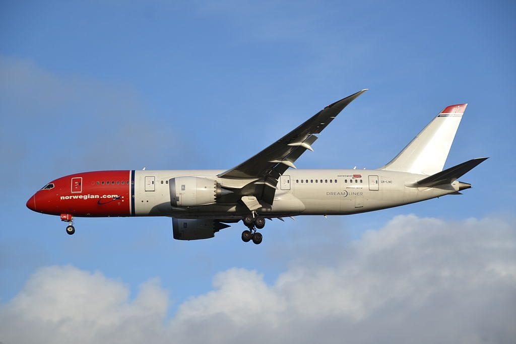 Boeing 787 8 Dreamliner of Norwegian Long Haul LN LNC at London Gatwick Airport