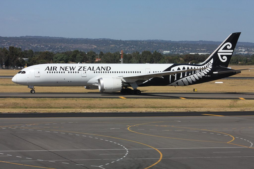 Boeing 787 9 Dreamliner Air New Zealand ZK NZJ at Adelaide Airport