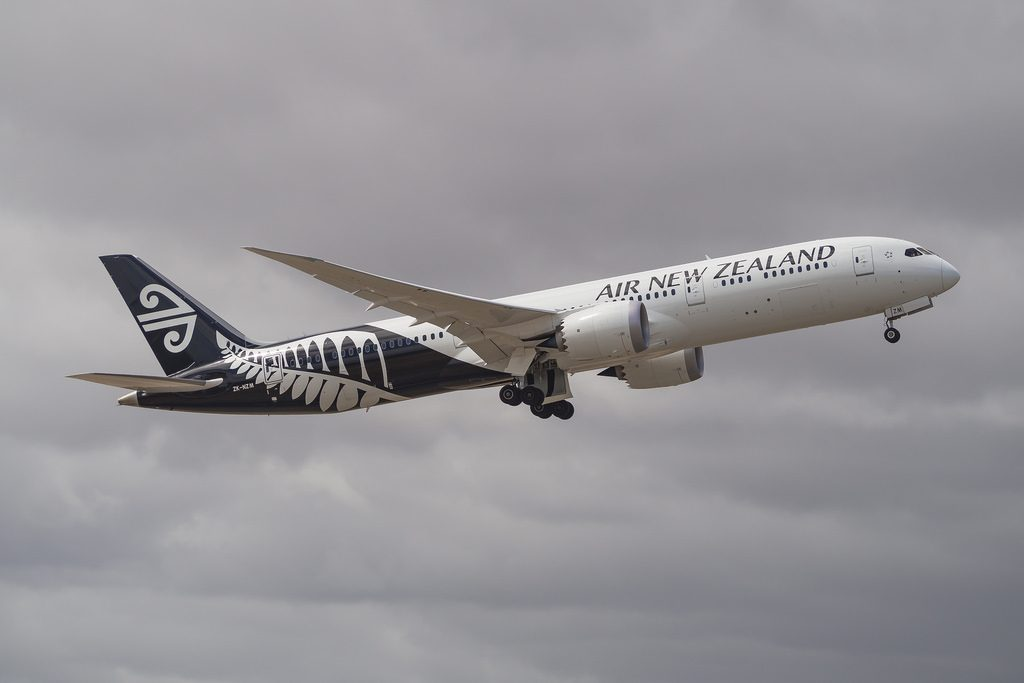 Boeing 787 9 Dreamliner Air New Zealand ZK NZM at Adelaide Airport