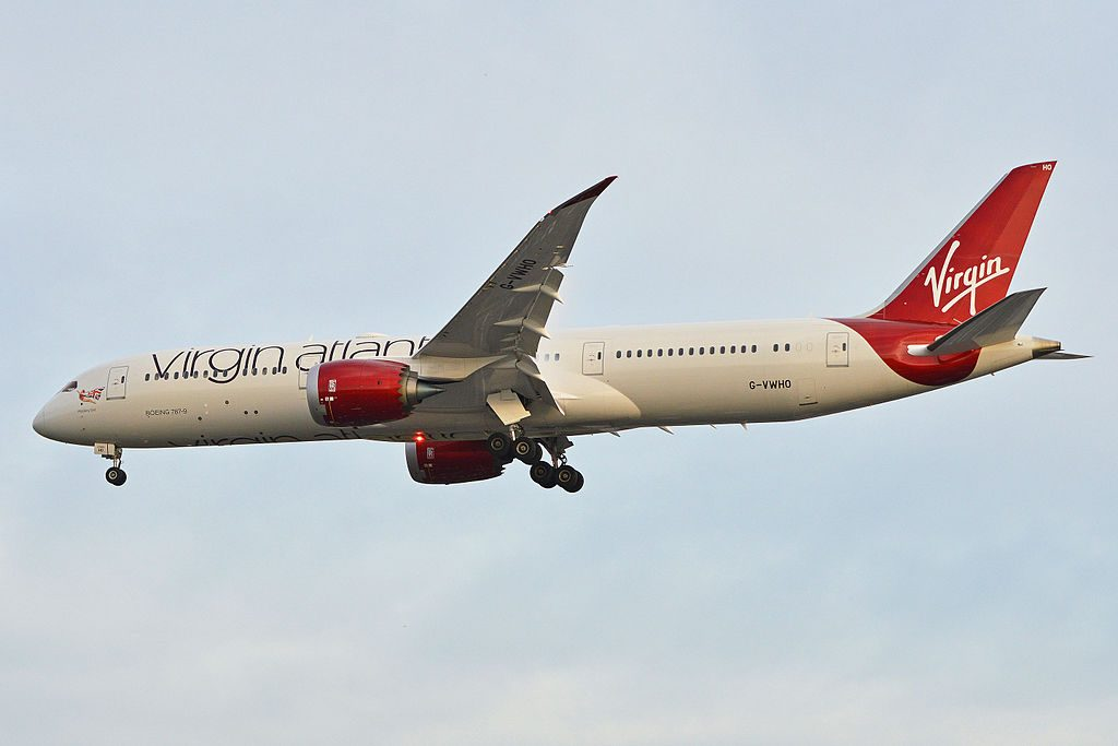 Boeing 787 9 Dreamliner G VWHO Virgin Atlantic Mystery Girl Arriving at London Heathrow Airport