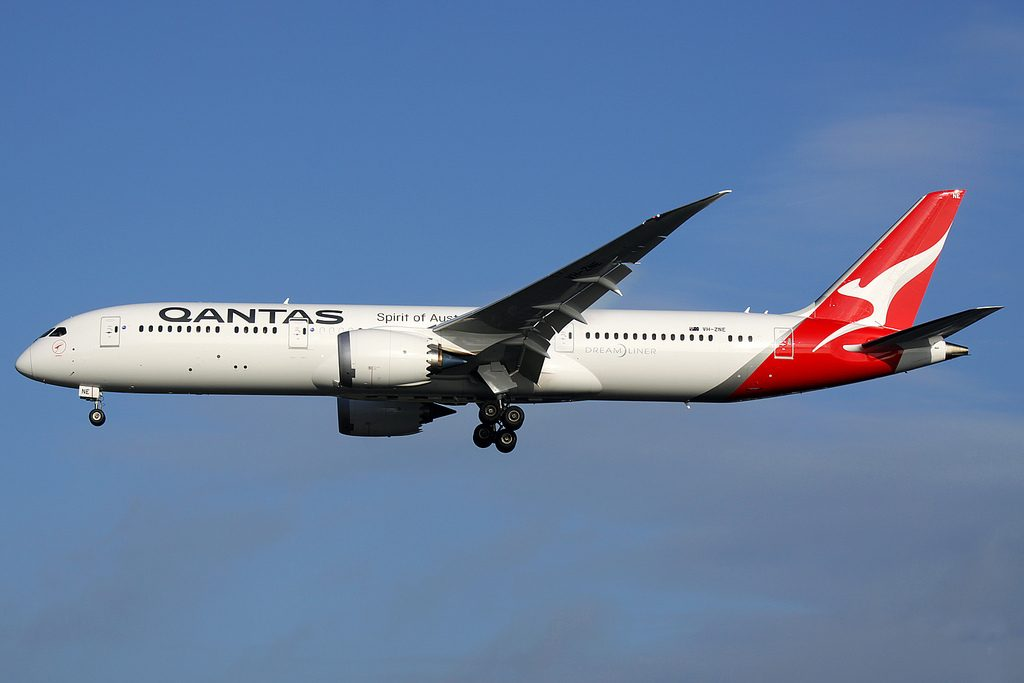 Boeing 787 9 Dreamliner Qantas VH ZNE Skippy at London Heathrow Airport