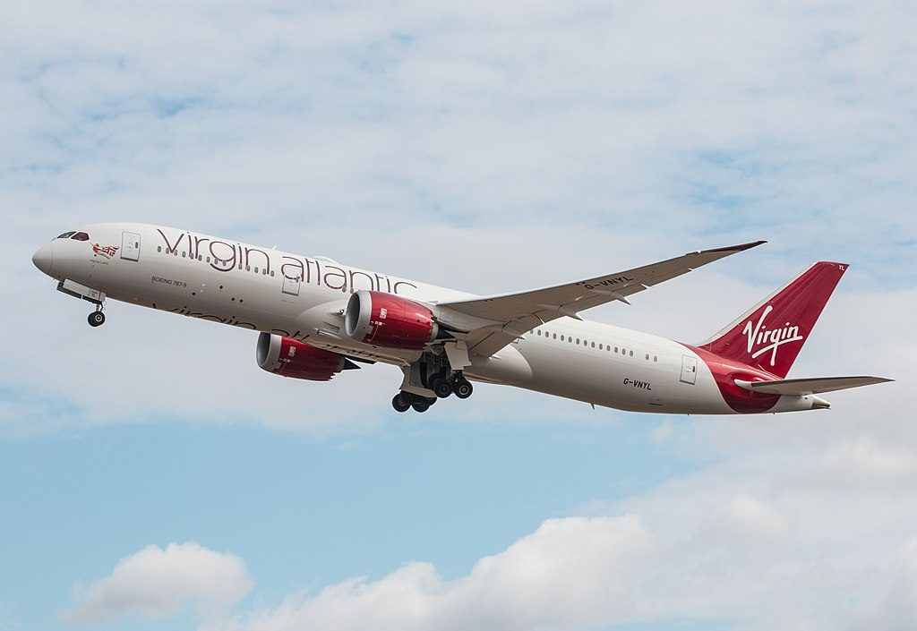 Boeing 787 9 Dreamliner Virgin Atlantic G VNYL Penny Lane at London Heathrow Airport