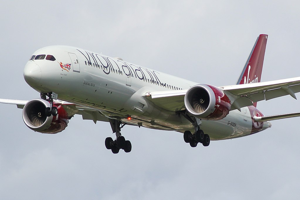 Boeing 787 9 Dreamliner Virgin Atlantic G VOOH Miss Chief at London Heathrow Airport