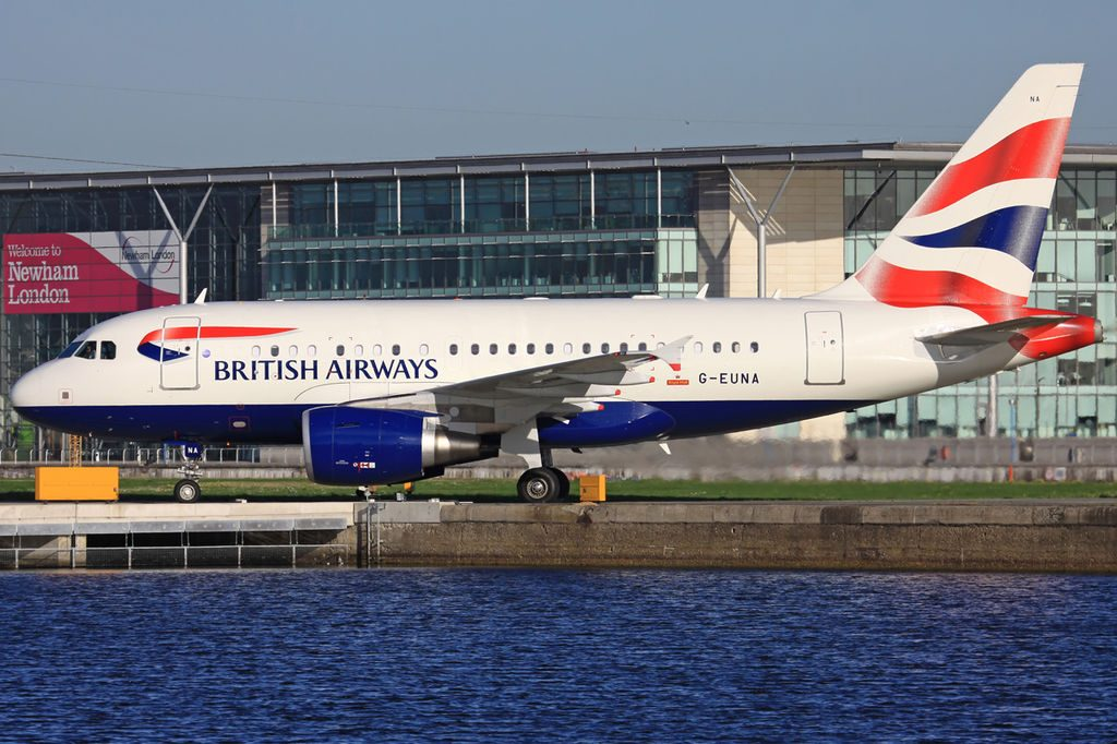 British Airways Airbus A318 112 CJ Elite G EUNA at London City Airport