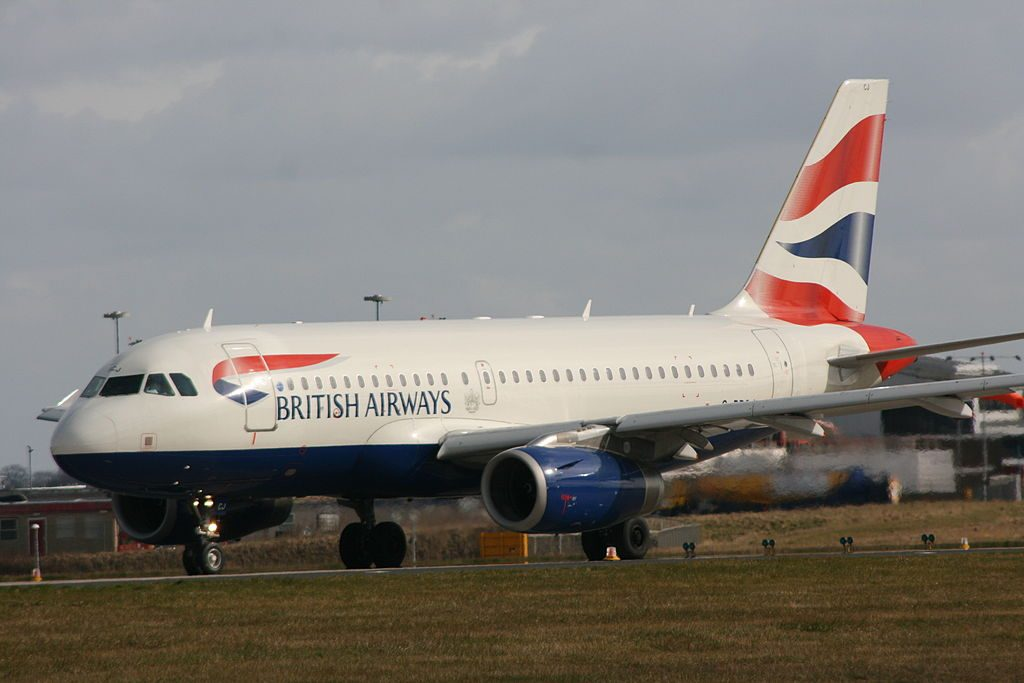 British Airways Airbus A319 100 G DBCJ at Leeds Bradford International Airport