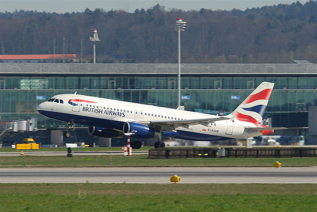 British Airways Airbus A320 200 G EUUB at Zurich International Airport ZRH