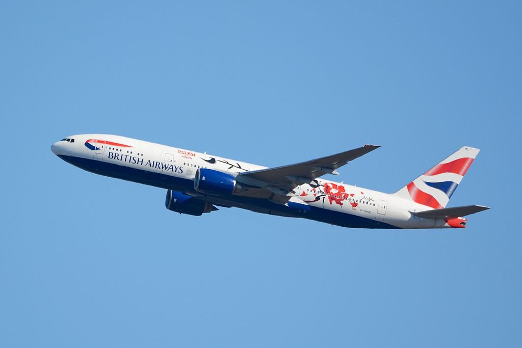 British Airways Boeing 777 200ER G YMML GREAT Festival of Creativity in Shanghai departing Narita International Airport NRT