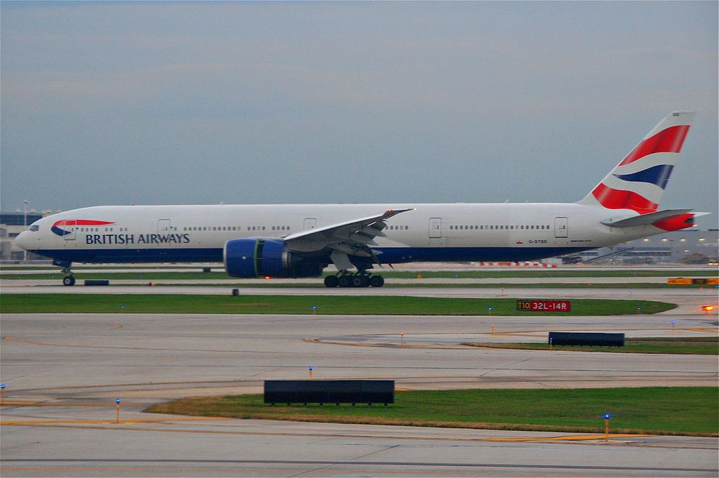 British Airways Boeing 777 300ER G STBB at OHare International Airport ORD
