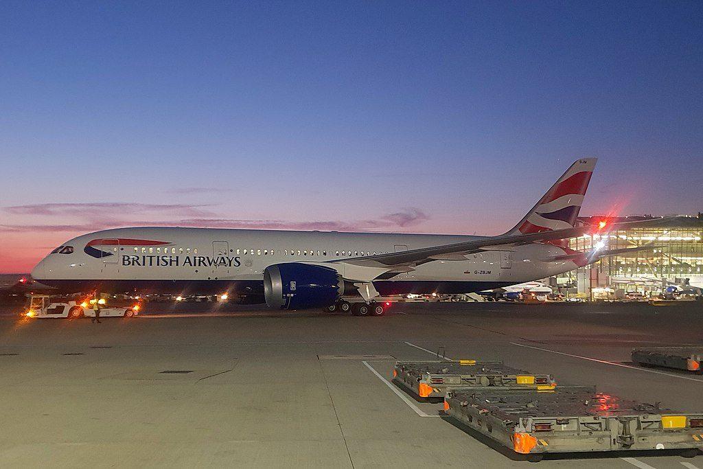 British Airways Boeing 787 8 Dreamliner G ZBJM at London Heathrow Airport
