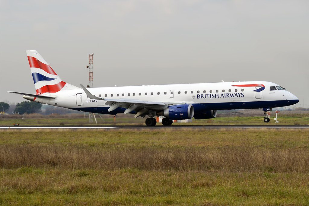 British Airways CityFlyer G LCYU Embraer ERJ 190SR at Peretola Airport