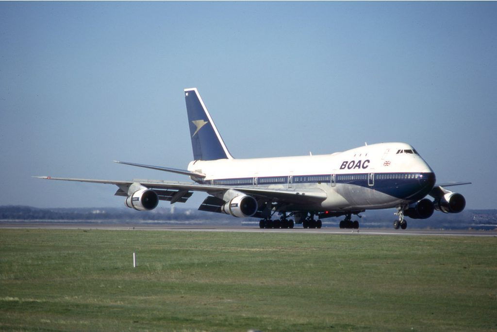 British Airways G BYGC Boeing 747 436 BOAC 1964 1974 retro livery cs