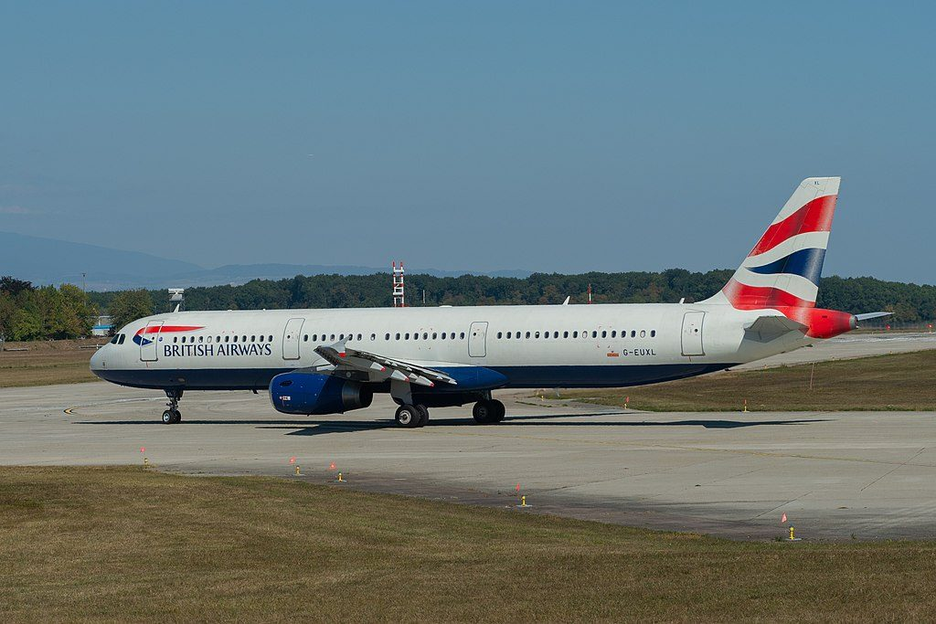 British Airways G EUXL Airbus A321 231 at Geneva International Airport
