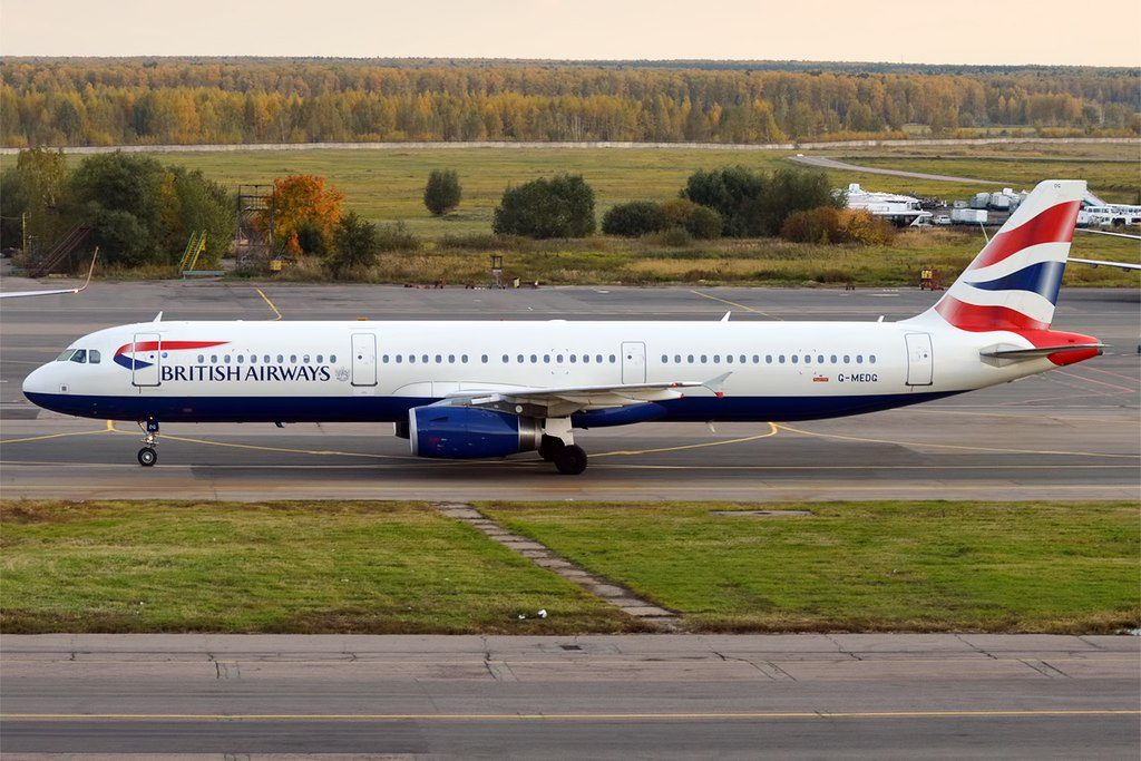 British Airways G MEDG Airbus A321 231 at Domodedovo International Airport