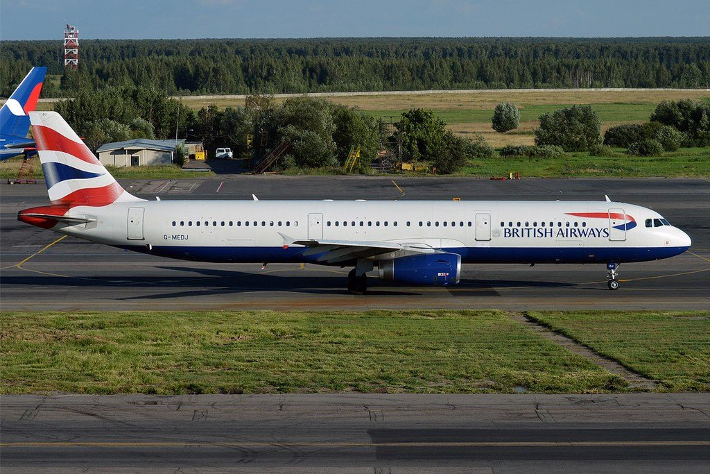 British Airways G MEDJ Airbus A321 231 at Domodedovo International Airport