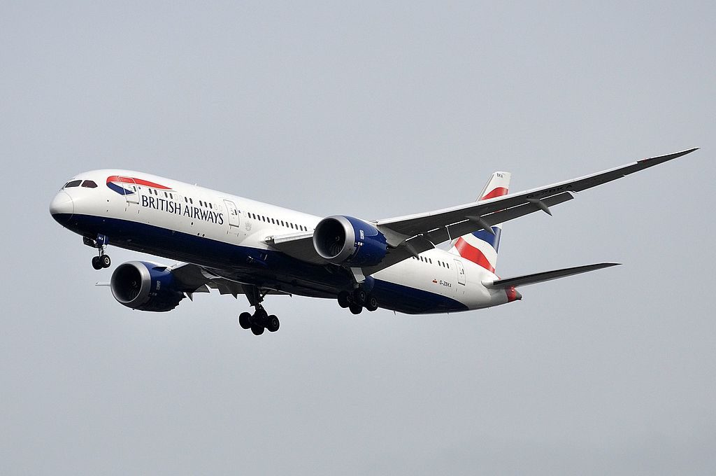 British Airways G ZBKA Boeing 787 9 Dreamliner on final approach at London Heathrow Airport