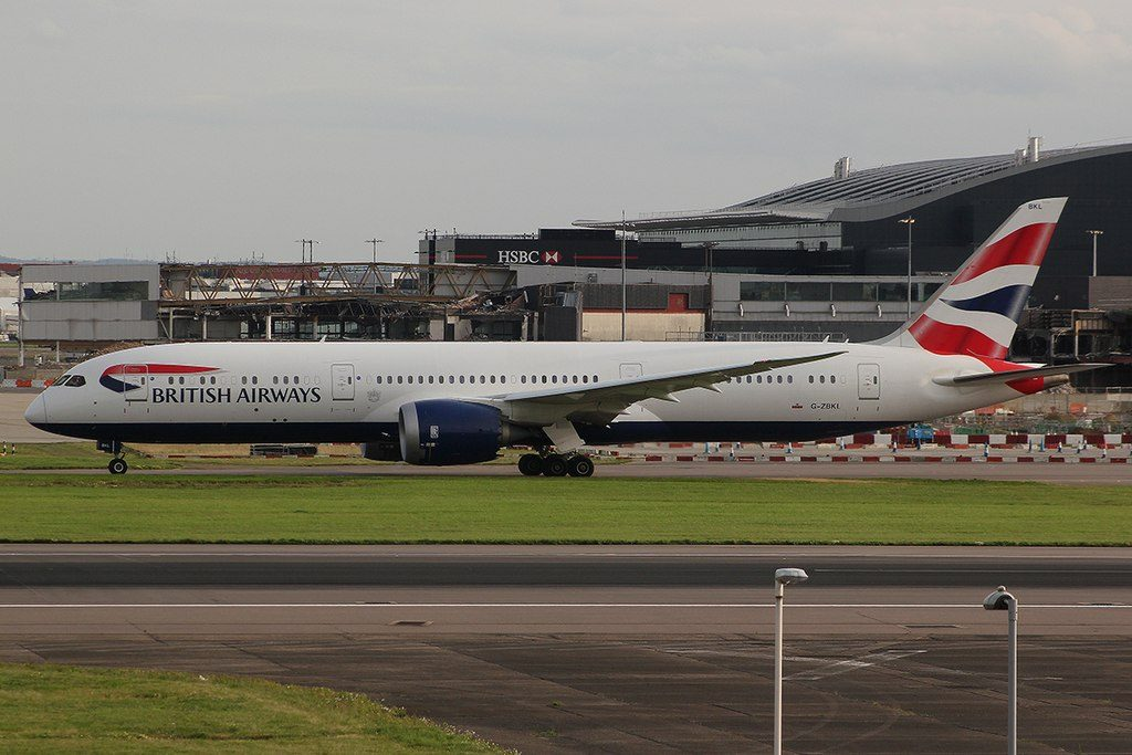 British Airways G ZBKL Boeing 787 9 Dreamliner taxiing at Heathrow Airport