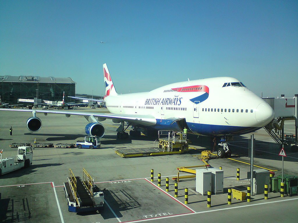 British Airways flight BA 182 Boeing 747 436 G CIVV at London Heathrow Airport