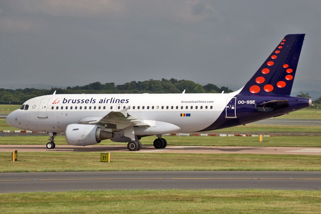 Brussels Airlines Airbus A319 111 OO SSE at Manchester Airport
