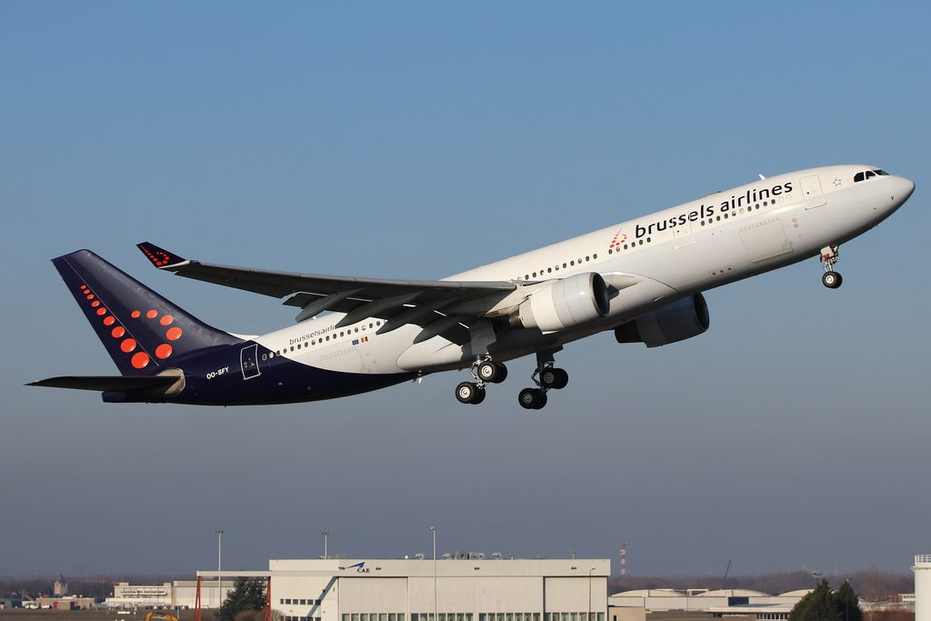 Brussels Airlines Airbus A330 223 OO SFY at Brussels Airport