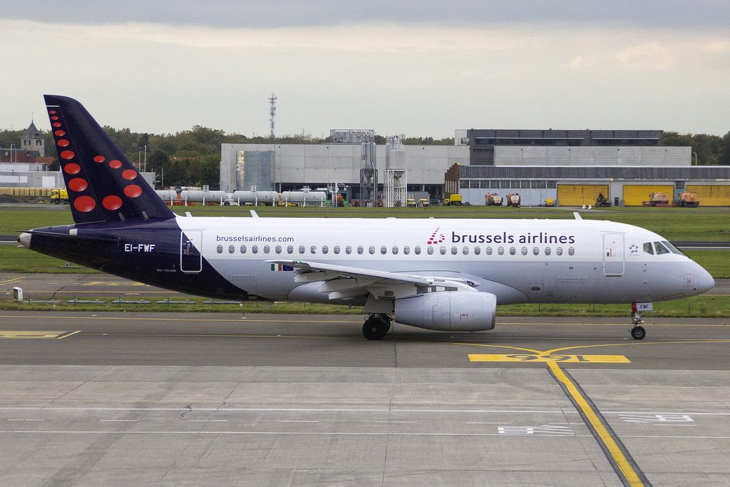 Brussels Airlines CityJet Sukhoi Superjet 100 95B cn 95118 EI FWF at Brussels Airport