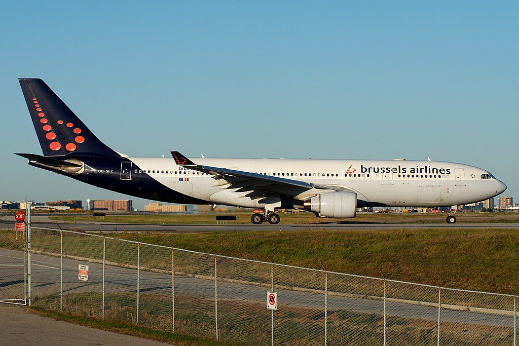 Brussels Airlines OO SFZ Airbus A330 223 Evening departure YYZ