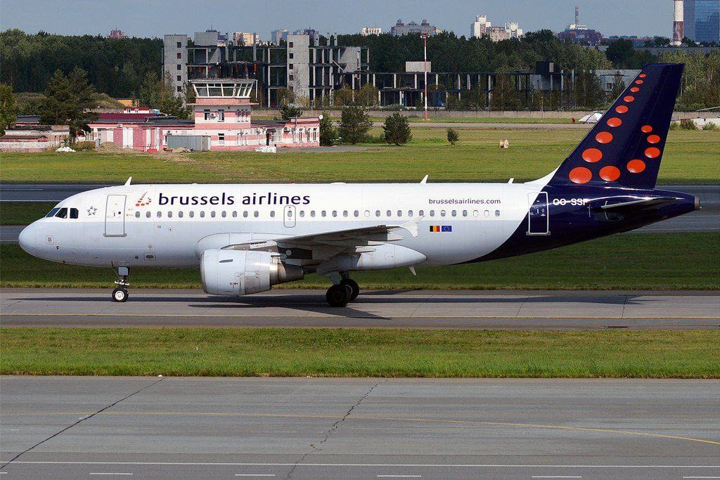 Brussels Airlines OO SSF Airbus A319 111 at Pulkovo Airport