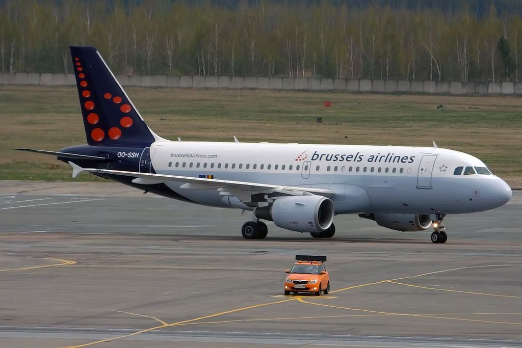 Brussels Airlines OO SSH Airbus A319 112 at Domodedovo International Airport