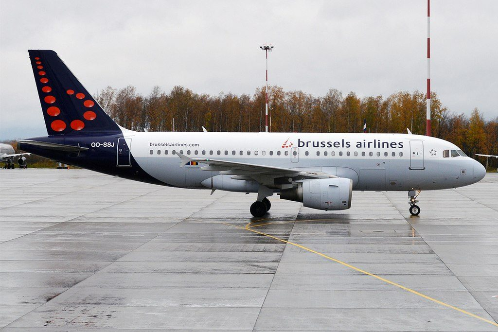 Brussels Airlines OO SSJ Airbus A319 111 at Pulkovo Airport