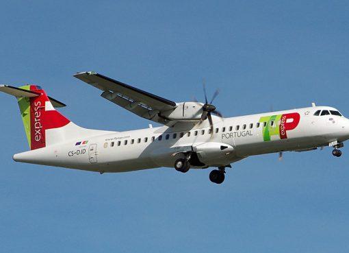 CS DJD ATR 72 600 Braga of TAP Express White Airways at Bilbao Airport
