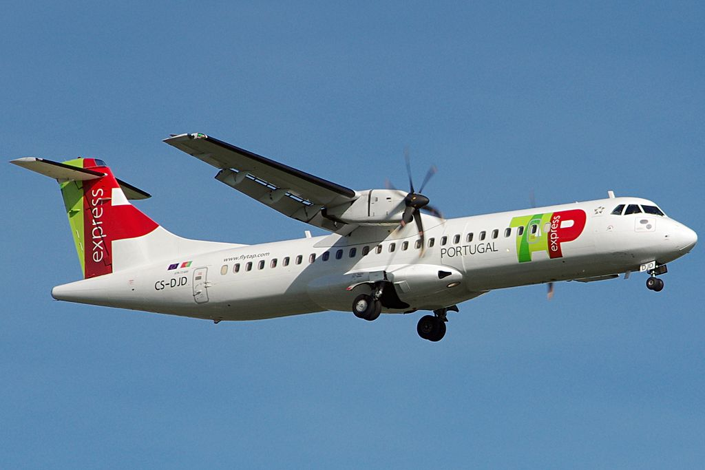 CS DJD ATR 72 600 Braga of TAP Express White Airways at Bilbao Airport