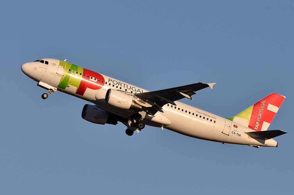 CS TNI Airbus A320 214 Aquilino Ribeiro of TAP Portugal at Fiumicino Airport