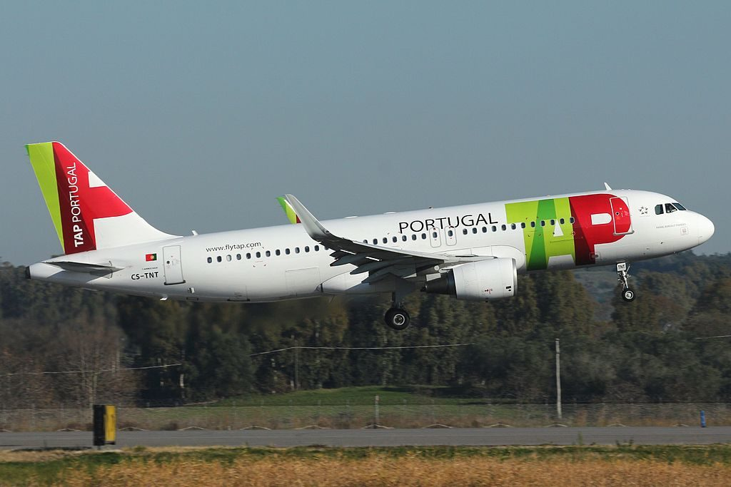 CS TNT Airbus A320 214WL Tap Air Portugal Rafael Bordalo Pinheiro at Rome Fiumicino Airport