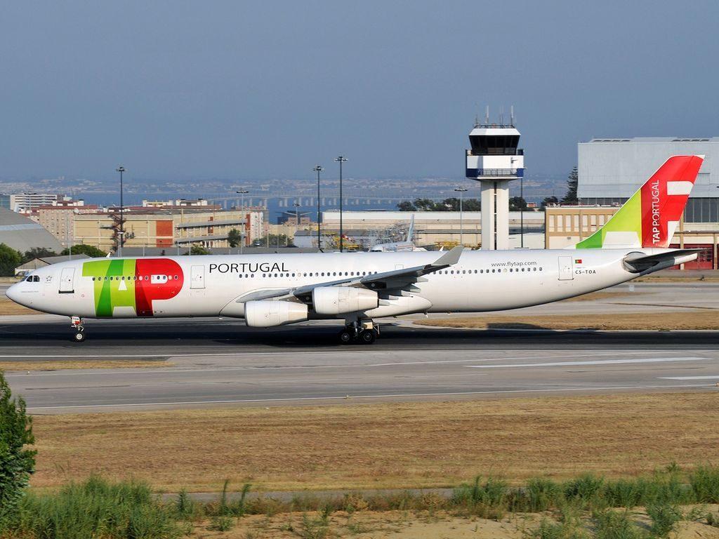 CS TOA Airbus A340 312 Fernão Mendes Pinto TAP Portugal at Lisbon Portela Airport