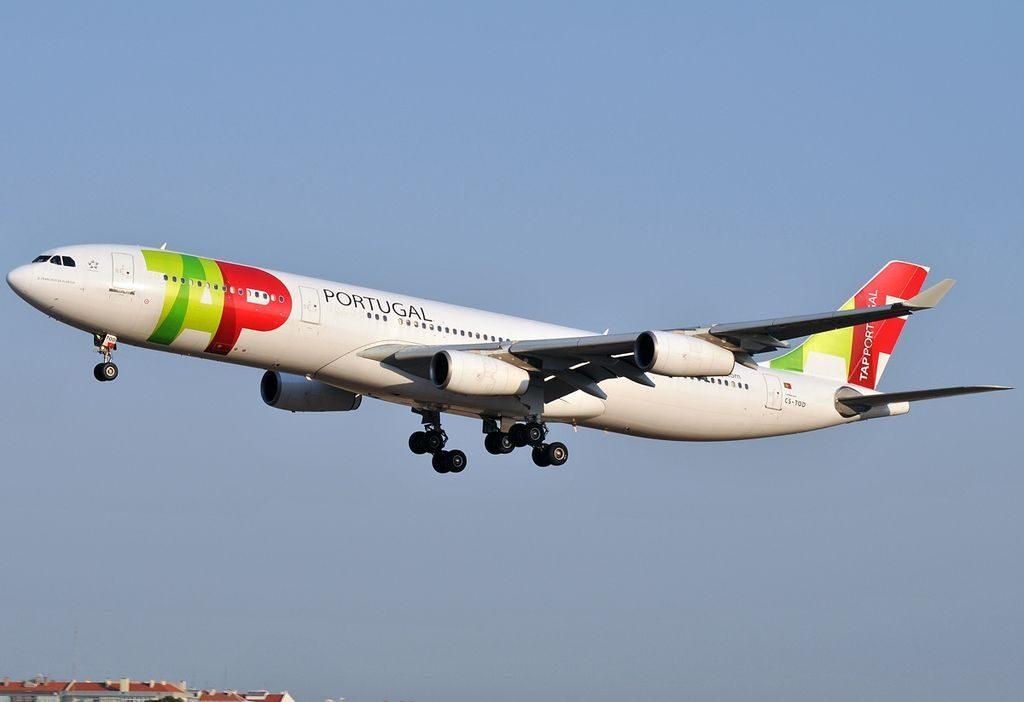 CS TOD Airbus A340 312 D. Francisco de Almeida of TAP Portugal at Lisbon Portela Airport