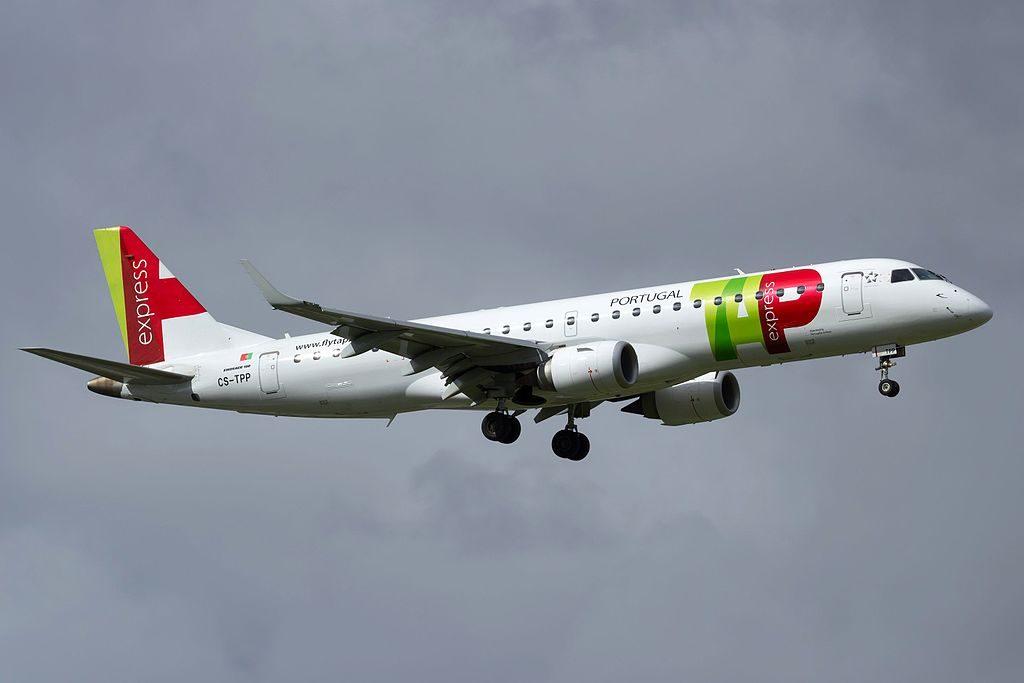CS TPP Embraer E190 TAP Express Portugália Viseu at Lisbon Portela Airport