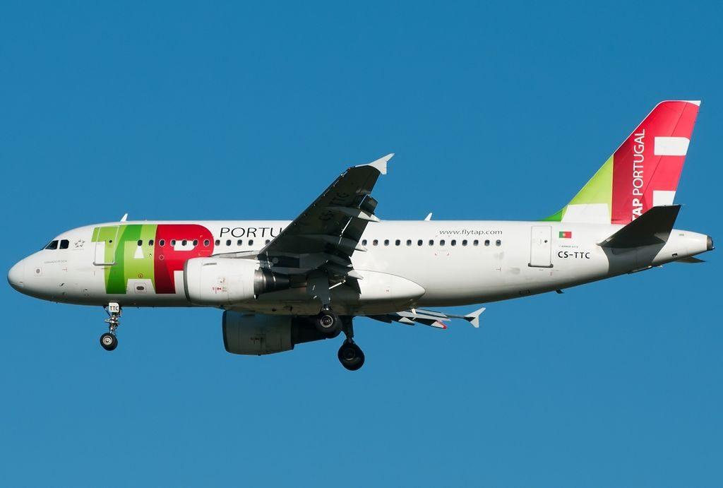 CS TTC Fernando Pessoa Airbus A319 111 TAP Air Portugal at Roma Leonardo da Vinci Fiumicino