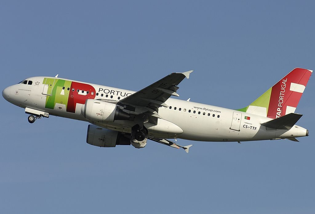 CS TTF Calouste Gulbenkian Airbus A319 111 TAP Portugal at Rome Fiumicino Airport